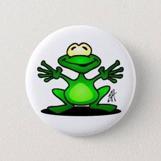 Badge Rond 5 Cm Grenouille amicale