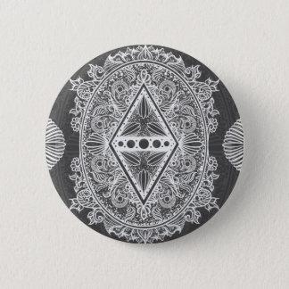 Badge Rond 5 Cm Gris, âge du réveil, bohémien, newage