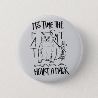Badge Rond 5 Cm Gros chat