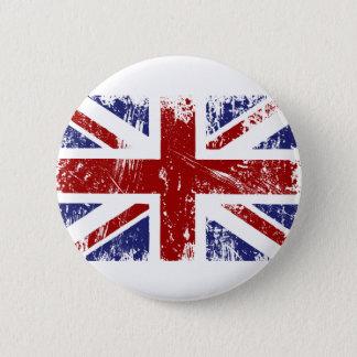 Badge Rond 5 Cm Grunge britannique de punk d'Union Jack de drapeau