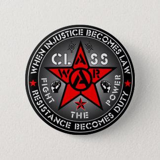 Badge Rond 5 Cm GUERRE de CLASSE - combattez la puissance