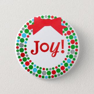 Badge Rond 5 Cm Guirlande de joie