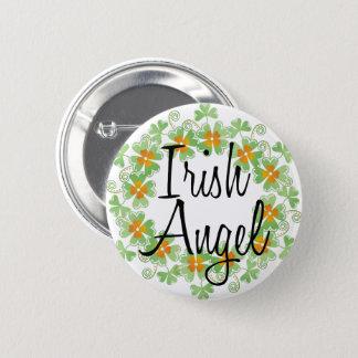 Badge Rond 5 Cm Guirlande irlandaise de shamrock d'ange