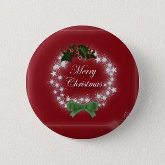 Badge Rond 5 Cm Guirlande moderne de Noël de vacances heureuses