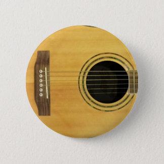 Badge Rond 5 Cm Guitare acoustique