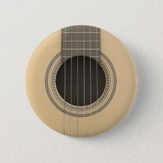 Badge Rond 5 Cm Guitare classique de bouton rond