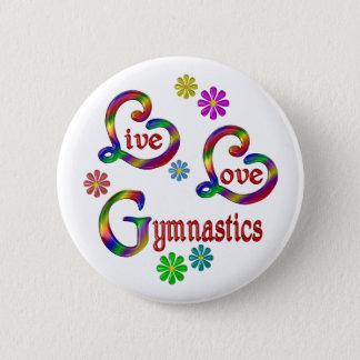Badge Rond 5 Cm Gymnastique vivante d'amour