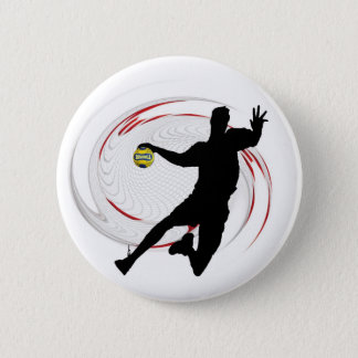 Badge Rond 5 Cm HandBall Bouton / Pin