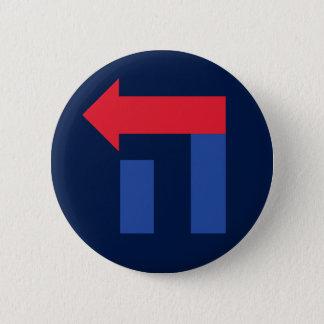 Badge Rond 5 Cm Hillary bleue et rouge dans le bouton hébreu