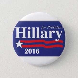Badge Rond 5 Cm Hillary Clinton pour le Pin de président 2016