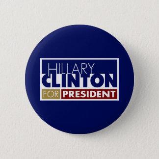 Badge Rond 5 Cm Hillary Clinton pour le Président V1