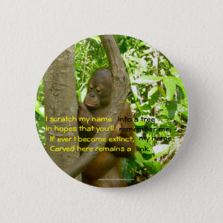Badge Rond 5 Cm Hommage d'orang-outan