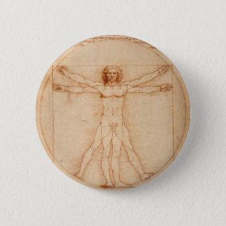 Badge Rond 5 Cm Homme de Vitruviano