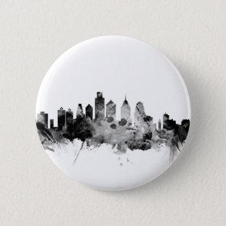 Badge Rond 5 Cm Horizon de Philadelphie Pennsylvanie
