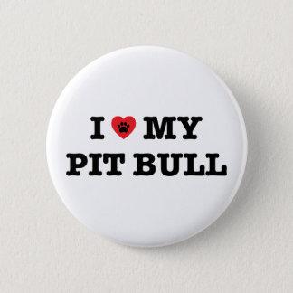 Badge Rond 5 Cm I coeur mon bouton de pitbull