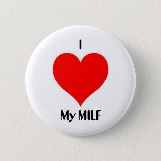 Badge Rond 5 Cm I coeur mon MILF
