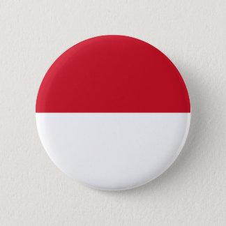 Badge Rond 5 Cm Identification de l'Indonésie, Jakarta, drapeau