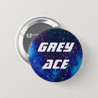 Badge Rond 5 Cm Identité personnalisable de galaxie d'as gris