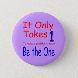 Badge Rond 5 Cm Il prend seulement un bouton