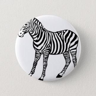 Badge Rond 5 Cm Illustration de zèbre
