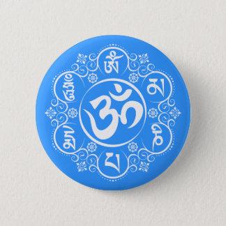 Badge Rond 5 Cm Incantation bouddhiste de bourdonnement de l'OM