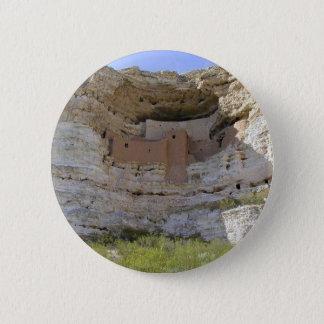 Badge Rond 5 Cm Indien de falaise de château de Montezuma