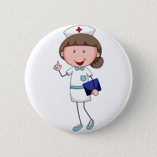 Badge Rond 5 Cm Infirmière