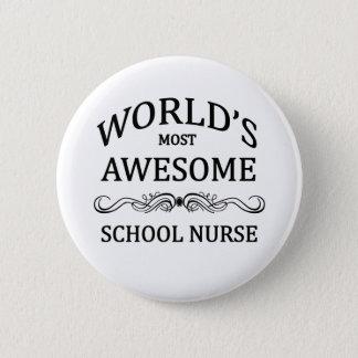 Badge Rond 5 Cm Infirmière d'école
