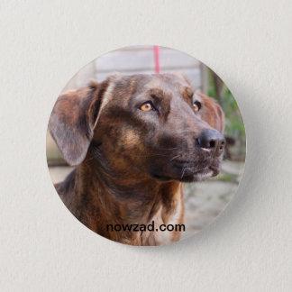 Badge Rond 5 Cm Insigne de Brin de chien de délivrance de Nowzad
