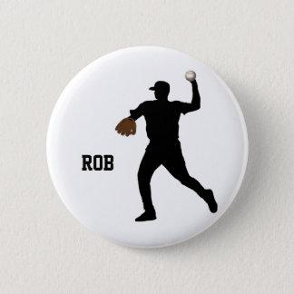 Badge Rond 5 Cm insigne de joueur de baseball