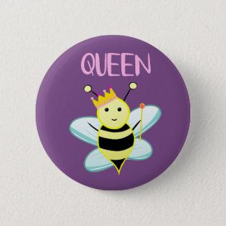 Badge Rond 5 Cm Insigne de reine des abeilles !