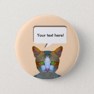 Badge Rond 5 Cm Insigne personnalisable de goupille de bas poly