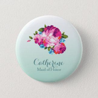 Badge Rond 5 Cm Insignes en bon état floraux lumineux de