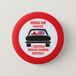 Badge Rond 5 Cm J'ai survécu au bouton de coutume de contrôles de