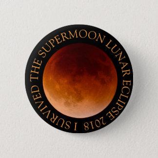 Badge Rond 5 Cm J'ai survécu au bouton de l'éclipse lunaire 2018