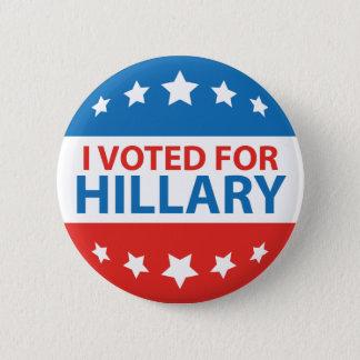 Badge Rond 5 Cm J'ai voté pour Hillary