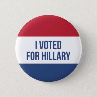 Badge Rond 5 Cm J'ai voté pour le bouton d'élection de Hillary