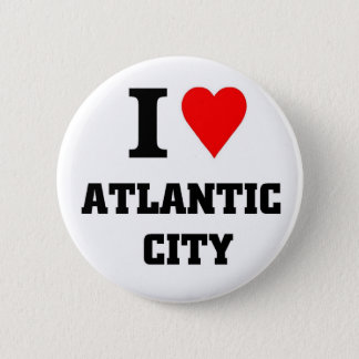 Badge Rond 5 Cm J'aime Atlantic City