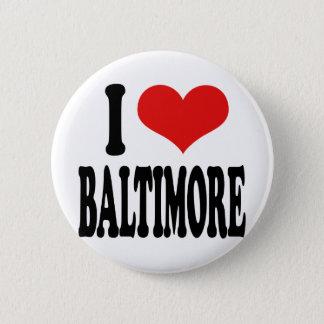 Badge Rond 5 Cm J'aime Baltimore