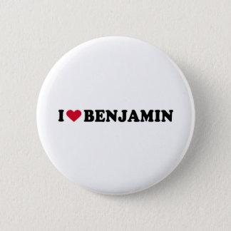 BADGE ROND 5 CM J'AIME BENJAMIN