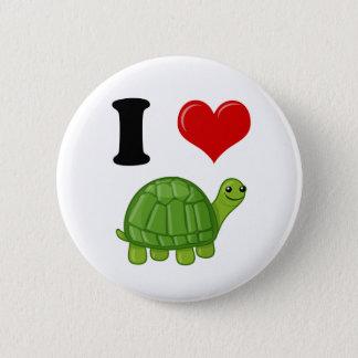Badge Rond 5 Cm J'aime des tortues
