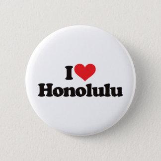 Badge Rond 5 Cm J'aime Honolulu