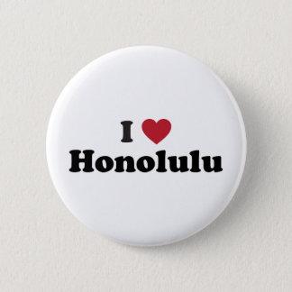 Badge Rond 5 Cm J'aime Honolulu Hawaï