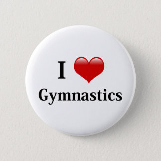 Badge Rond 5 Cm J'aime la gymnastique
