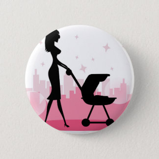 Badge Rond 5 Cm j'aime la maman