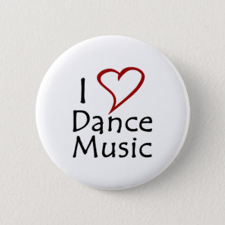 Badge Rond 5 Cm J'aime la musique de danse