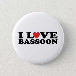 Badge Rond 5 Cm J'aime le basson