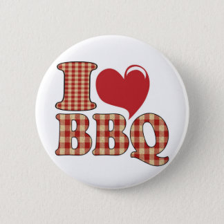Badge Rond 5 Cm J'aime le BBQ