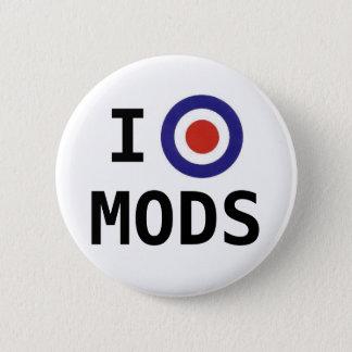 Badge Rond 5 Cm J'aime le bouton de Mods