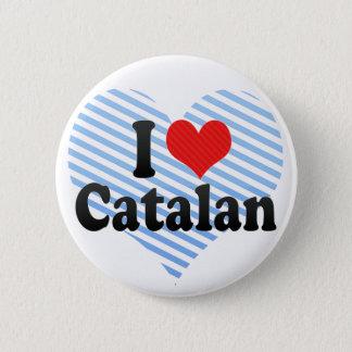 Badge Rond 5 Cm J'aime le catalan